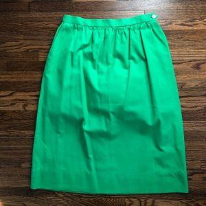 British racing green pencil skirt